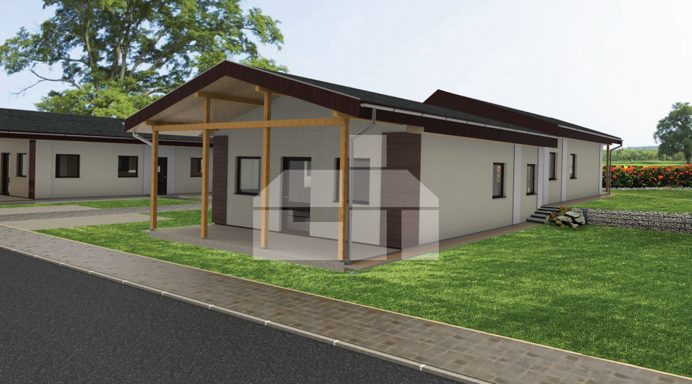 3 szobás bungaló kisebb terekben - sz.13