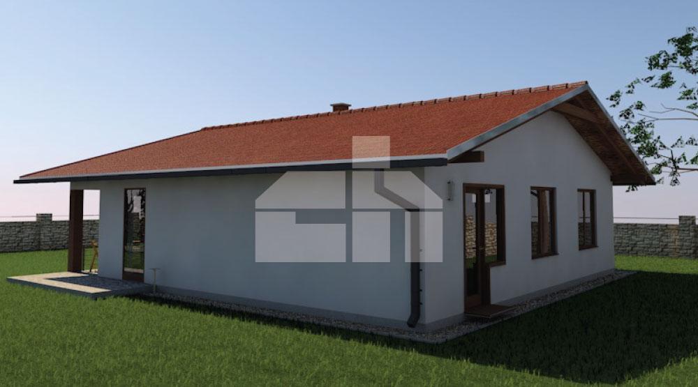 Három hálószobás négyzet alapú ház - sz.32, Raktáron elérhető.