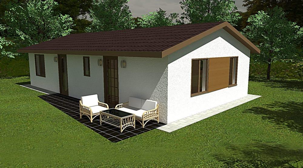 Két hálószobás bungaló raktáron elérhető - sz.94