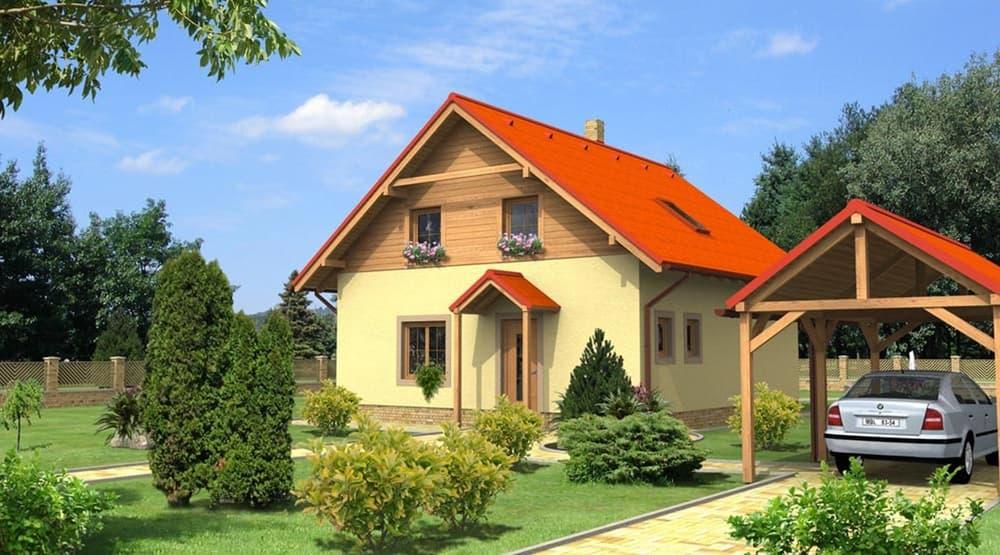 Trojizbový poschodový rodinný dom s jedálňou - č.4