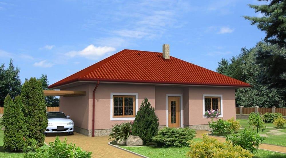 Nagy, két hálószobás bungalow konytyolt tetővel - sz.11