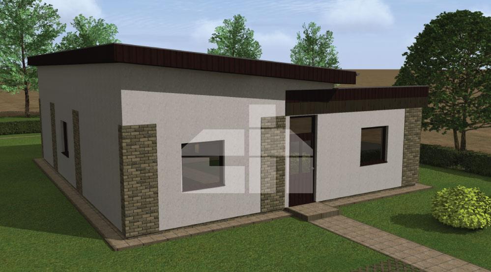 Három hálószobás L alakú földszinti ház - sz.10