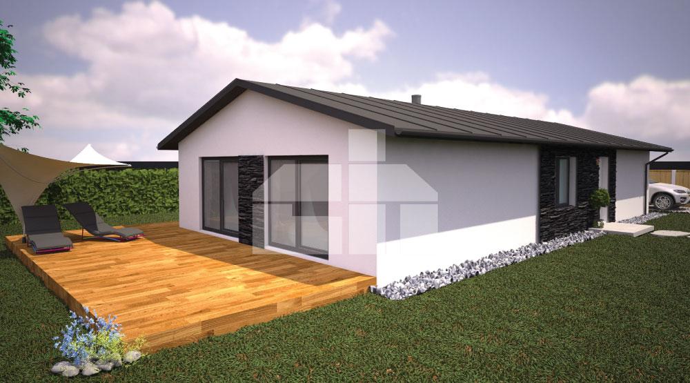 Három hálószobás ház projektje keskeny telekre - sz.18