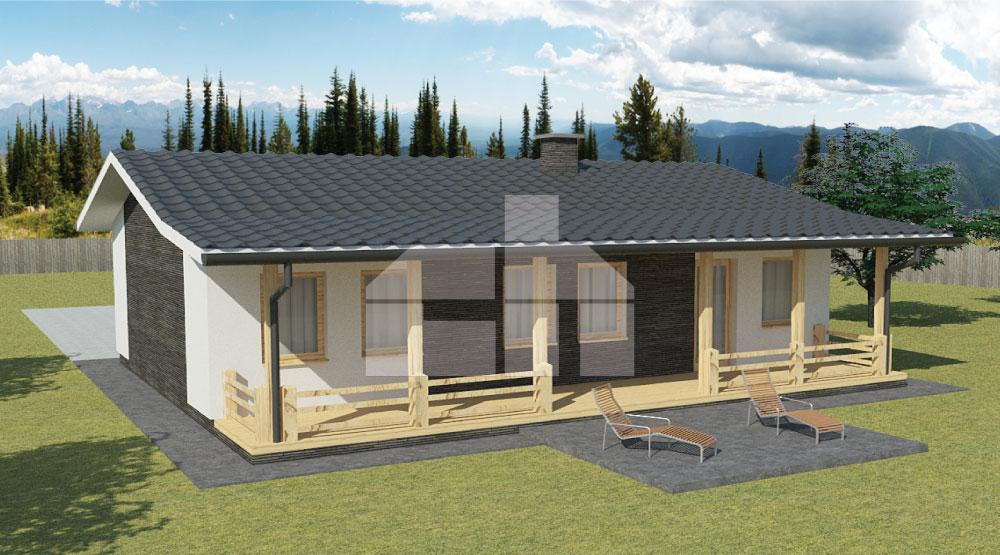 Négy hálószobás előre gyártott családi ház - sz.35