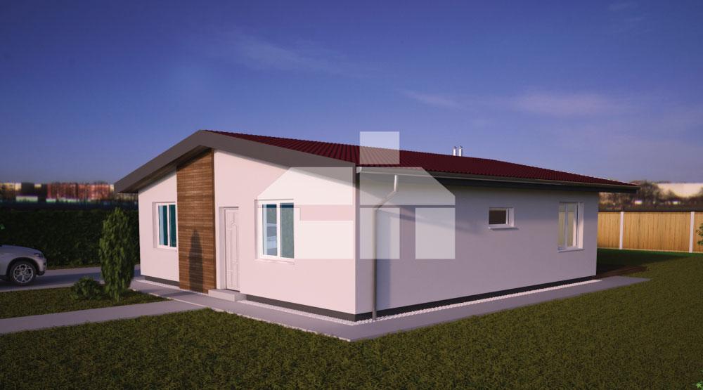 Kétszobás négyzet alakú bungaló - sz.38