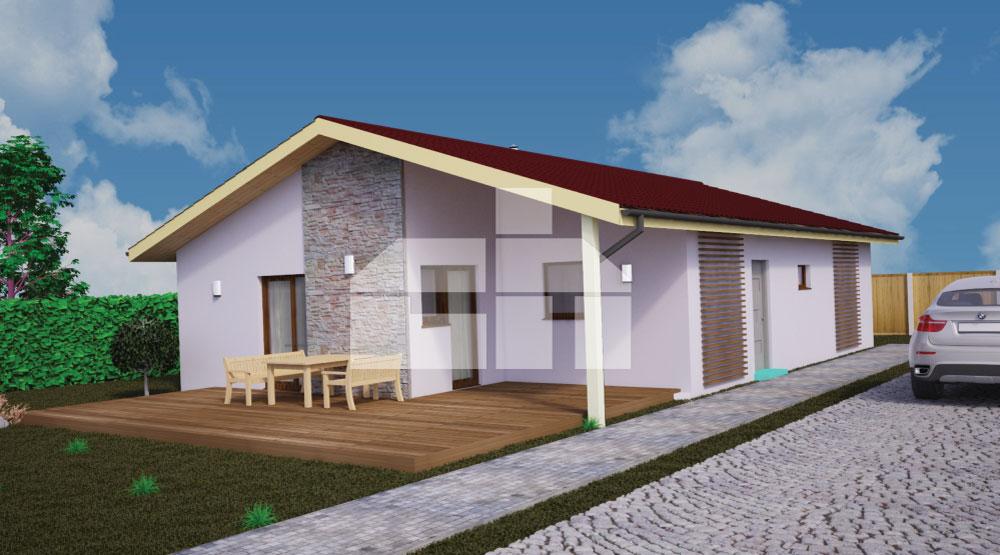 Négyszobás, téglalap alapú bungaló - sz.39