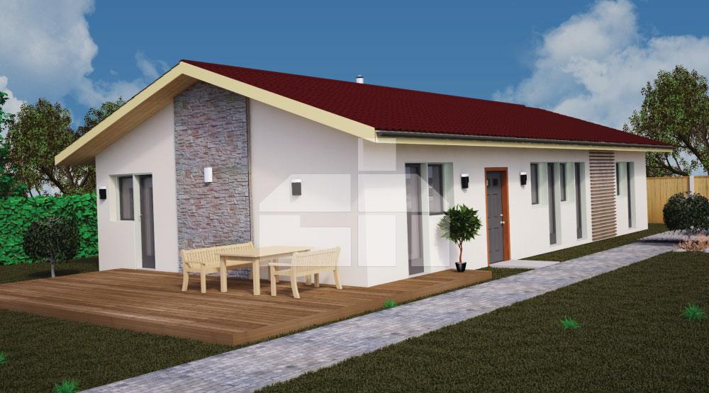 Három hálószobás bungaló, a szobáktól elkülönített hálószobával - sz.41