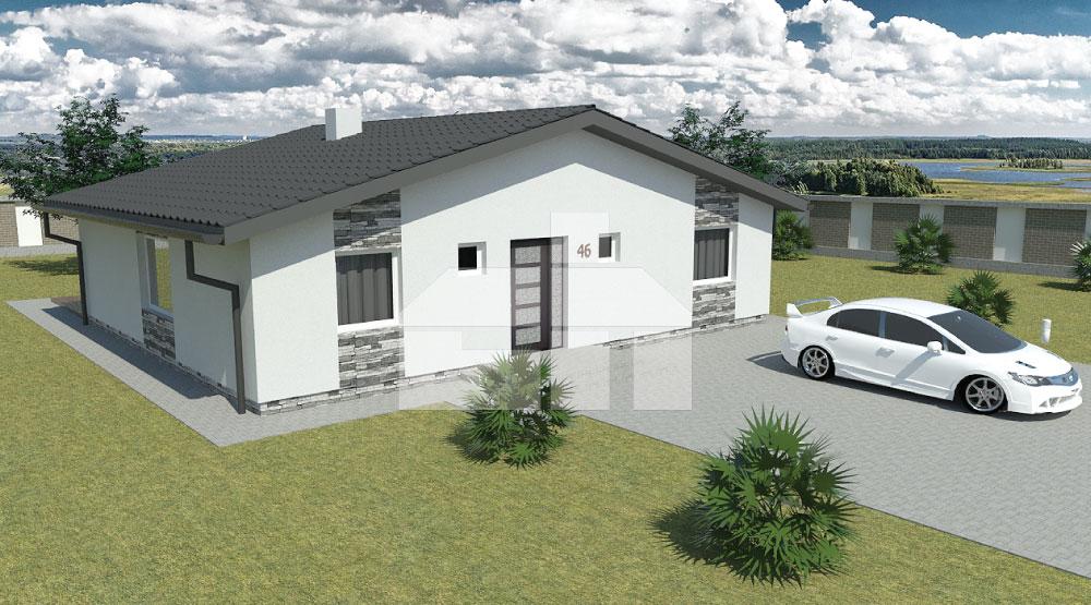 Nagy, négyzet alapú bungaló - č.46