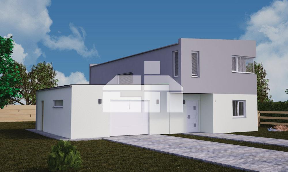 Kétszintes modern ház garázzsal - sz.50