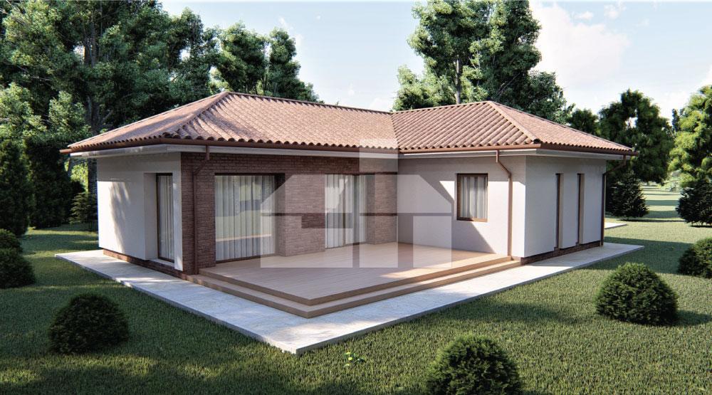 L-alakú családi ház három hálószobával