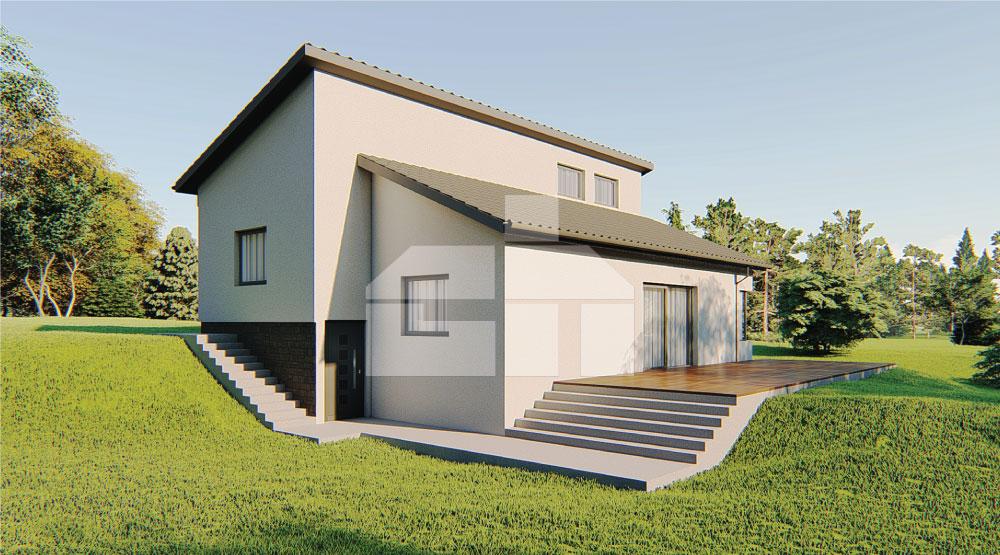 Családi ház lejtős telkekre alkalmas - sz.60