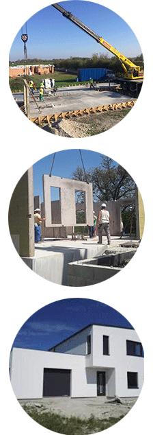 Montáž keramických domov