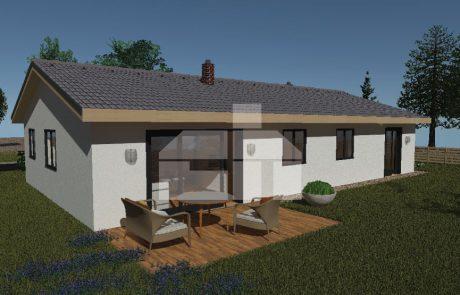 Két generációs bungaló három hálószobával, raktáron elérhető - sz.71b