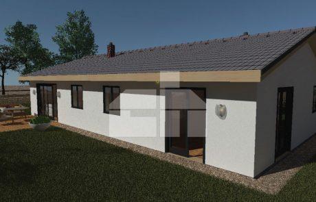 Két generációs bungaló három hálószobával, raktáron elérhető - sz.71
