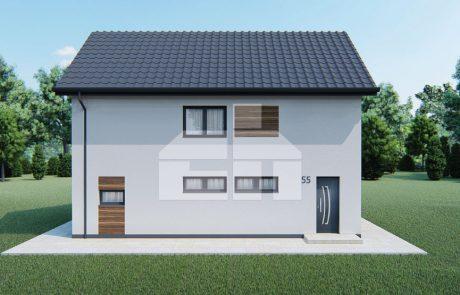 Kétszintes családi ház nyitott nappalival - sz.55
